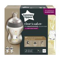 Tommee Tippee CTN BPA-mentes cumisüveg duo 260ml színes