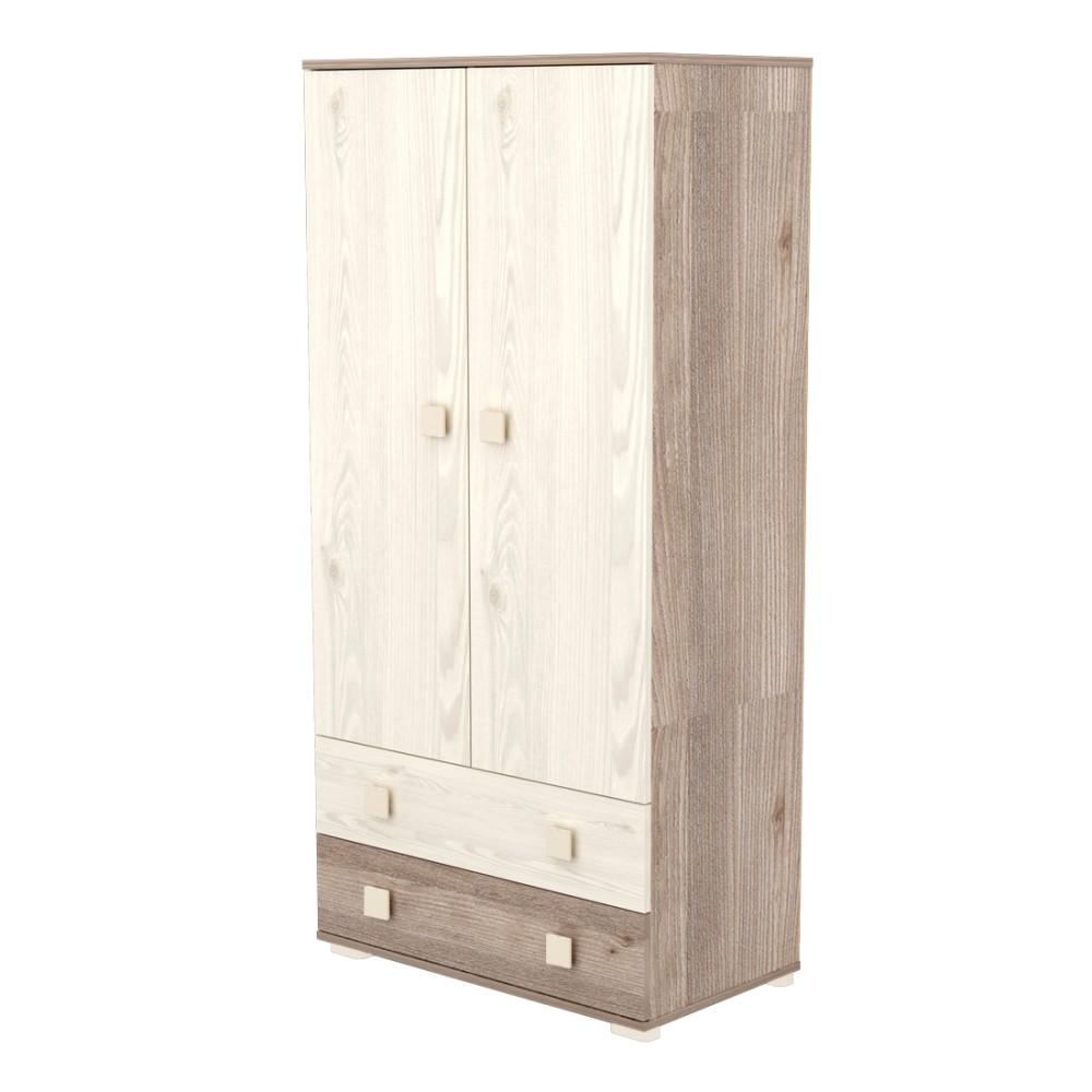 Timba Viki szekrény 2 ajtós 2 fiókos krém-fűz